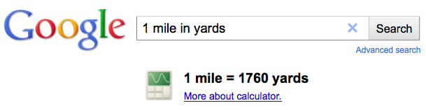 mile in yards